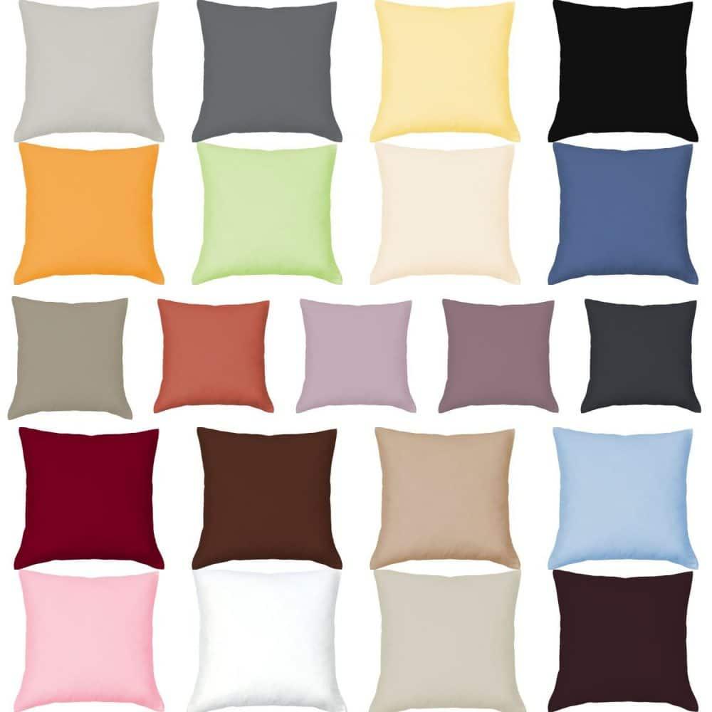 Mako Satin Kissenbezug Einfarbig Gruber Bettwäsche