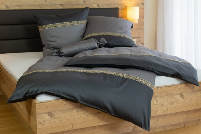 Mako Satin Bordüre Bettbezug