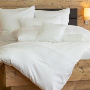 Spitzen Bettwäsche weiß 100% Baumwolle